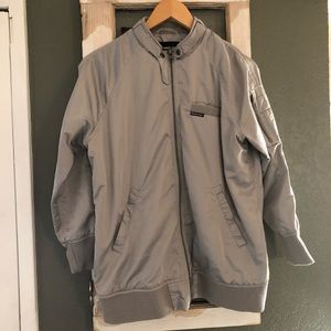 Members Only Silver Racer Jacket Size M